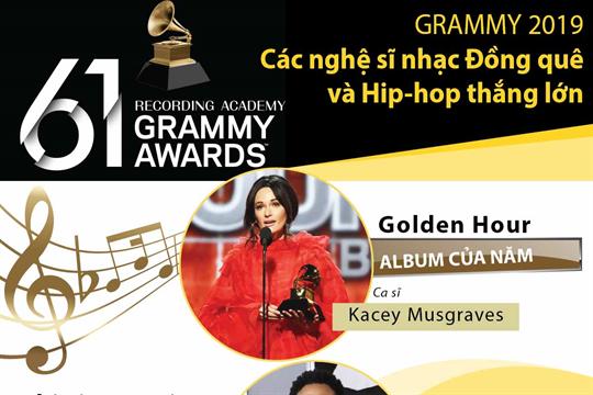 Grammy 2019: Các nghệ sĩ nhạc Đồng quê và Hip-hop thắng lớn