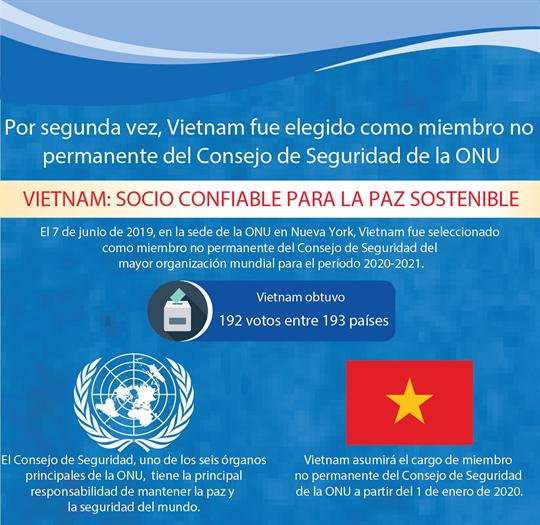 Vietnam fue elegido como miembro no permanente del Consejo de Seguridad de la ONU