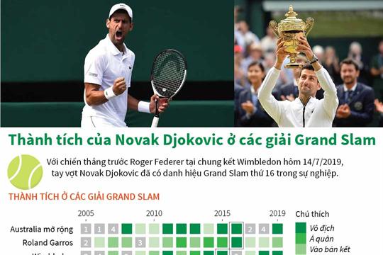 Thành tích của Novak Djokovic ở các giải Grand Slam