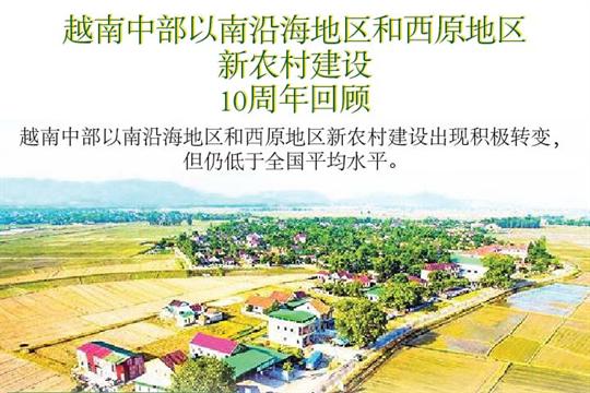 越南中部以南沿海地区和西原地区新农村建设10周年回顾