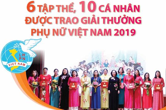 6 tập thể, 10 cá nhân được trao giải thưởng Phụ nữ Việt Nam 2019