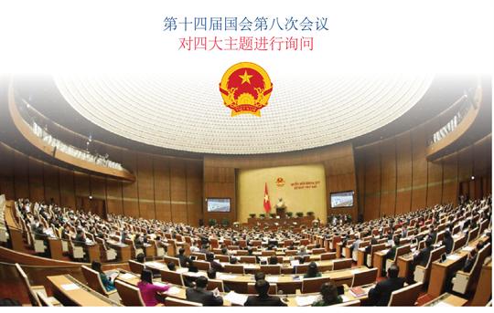 第十四届国会第八次会议 对四大主题进行询问