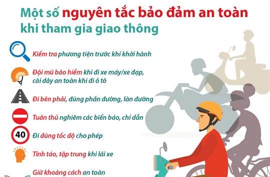Một số nguyên tắc bảo đảm an toàn khi tham gia giao thông