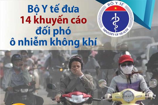 Bộ Y tế đưa 14 khuyến cáo đối phó ô nhiễm không khí
