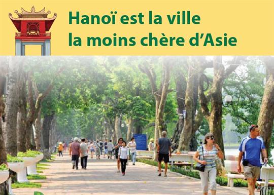 Hanoï est la ville la moins chère d'Asie