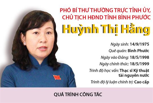 Phó Bí thư Thường trực Tỉnh ủy, Chủ tịch HĐND tỉnh Bình Phước Huỳnh Thị Hằng