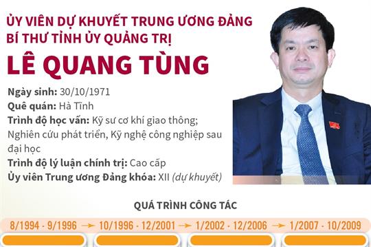 Ủy viên dự khuyết Trung ương Đảng, Bí thư Tỉnh ủy Quảng Trị Lê Quang Tùng