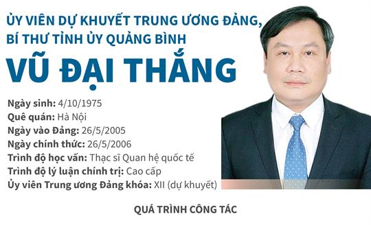 Ủy viên dự khuyết Trung ương Đảng, Bí thư Tỉnh ủy Quảng Bình Vũ Đại Thắng