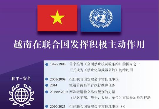 越南在联合国发挥积极主动作用