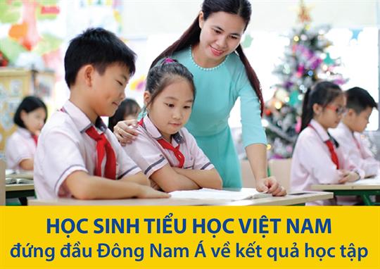 Học sinh tiểu học Việt Nam đứng đầu Đông Nam Á về kết quả học tập