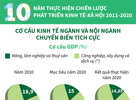 10 năm thực hiện Chiến lược phát triển kinh tế-xã hội 2011-2020: Cơ cấu kinh tế ngành và nội ngành chuyển biến tích cực