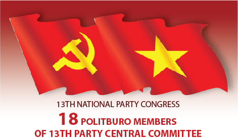 18 Politburo members of 13th Party Central Committee