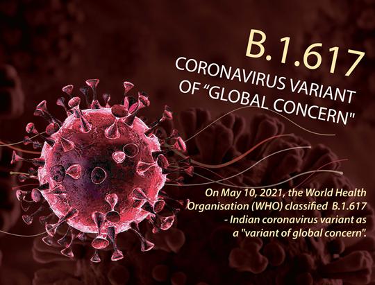 B.1.617 - Covid variant of 'global concern'