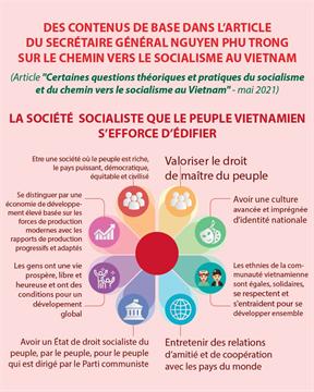 Des contenus de base dans l'article du SG sur le chemin vers le socialisme au Vietnam