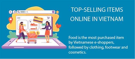 Top-selling items online in Vietnam